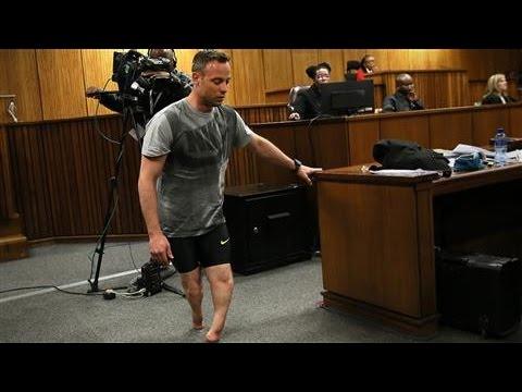 Oscar Pistorius Walks on Stumps at Hearing