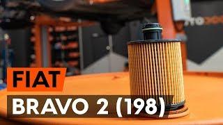 Kuinka vaihtaa öljynsuodatin ja moottoriöljy FIAT BRAVO 2 (198) -merkkiseen autoon [AUTODOC]