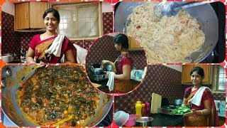 SUNDAY ROUTINE WITH 3 DISHES| MUTTON CURRY IN PRESSURE COOKER|GONGURA TOMATO CURRY|KITCHEN TIPS