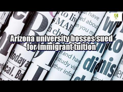 Arizona university bosses sued for immigrant tuition