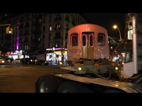 MTA NYC Subway Bombardier Transportation R179 cars 3060 & 3061 turning onto Broadway