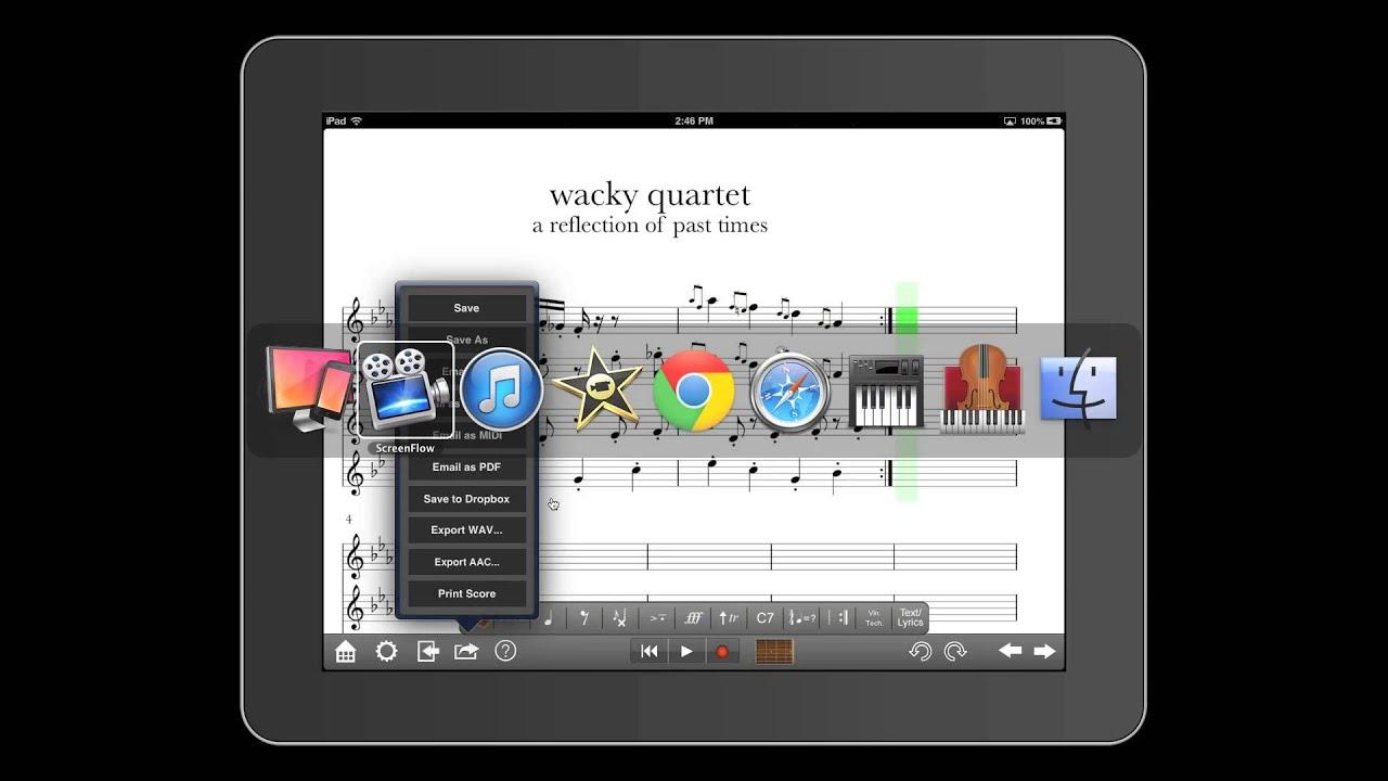 Notion for iPad: Export Audio