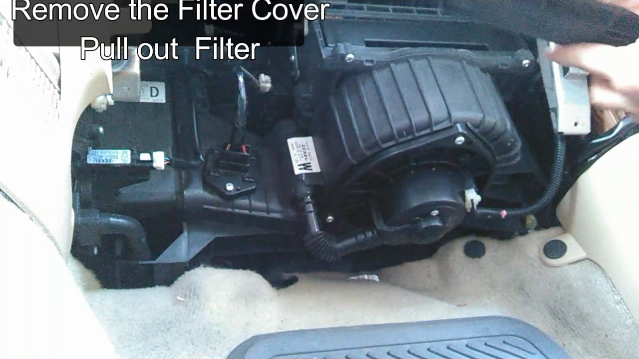 Replace cabin air filter for subaru forester 2006