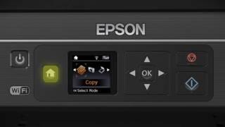 Компанія Epson вираз будинку XP-330 | налаштування бездротової мережі за допомогою кнопок принтера