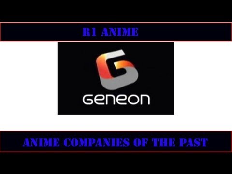 Geneon Entertainment R1 Anime Companies of the Past