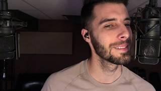 Relaxing Male ASMR - Whisper Ear to Ear, Beard Play, Soothing Music and Eye Gazing