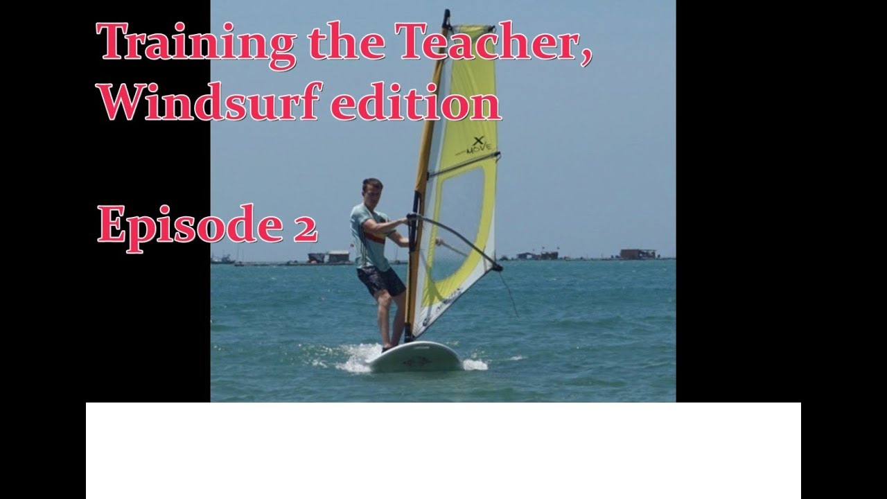 How to Windsurf - Lifting up the sail and starting to windsurf