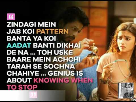 Love You Zindagi  Dear Zindagi  Alia  Shah Rukh Khan