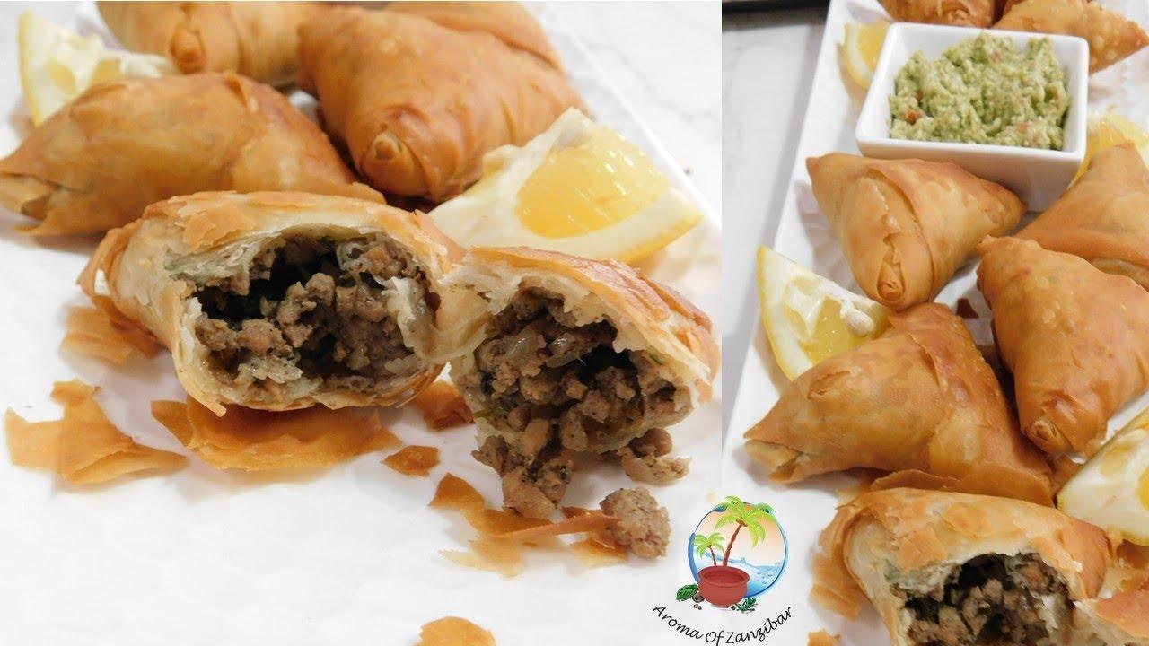Crunchy And Flaky Zanzibari Style Sambusa Wrap Samosa Youtube