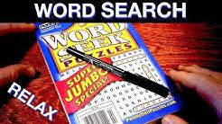Rainy Night Word Search Puzzle - Rain Sounds