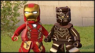 LEGO MARVEL AVENGERS - CIVIL WAR DLC FUN RUN! All Characters!