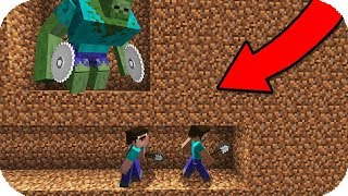 2 NOOB VS BASE SECRETA DE MUTANTES ZOMBIES MINECRAFT TROLL + APOCALIPSIS