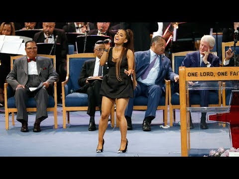 Ariana Grande Performs Natural Woman At Aretha Franklin's Funeral