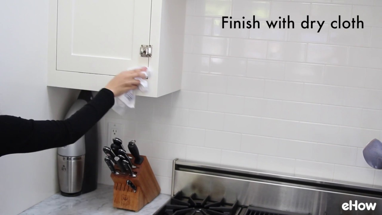 How to Clean Kitchen Cabinets - YouTube