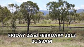Aurizon Shocking impact of the coal trains - footage from our bedroom window.
