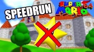 SUPER MARIO 64 - SPEED RUN EN 6:41 (0 étoile) [Laupok Speed Comment]