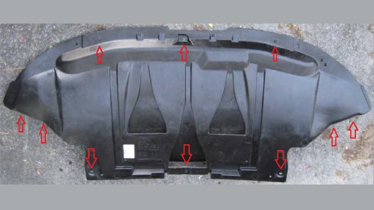 Car Bumper Guard >> VW Passat Splash Guard (1998-2005) - YouTube