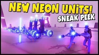 new neon faction tesla energy sword master boxgun beamer totally accurate battle simulator
