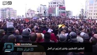 مصر العربية   المعلمون الفلسطينيون يواصلون إضرابهم عن العمل