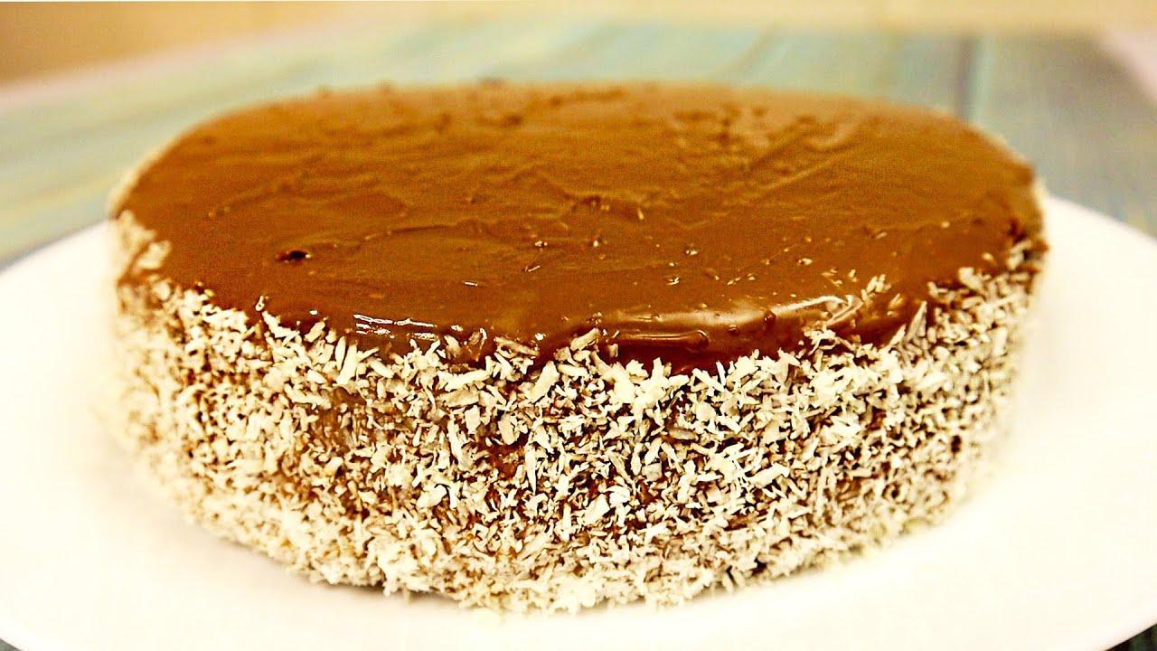 Шоколадный пирог с Нутеллой и кокосом!