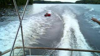Cabin Cruiser Tubing Fun In Big Boat