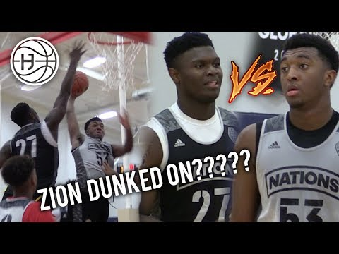 Kyree Walker VS Zion Williamson Both GO OFF! Battle of #1 Players in the Country! Adidas Nations