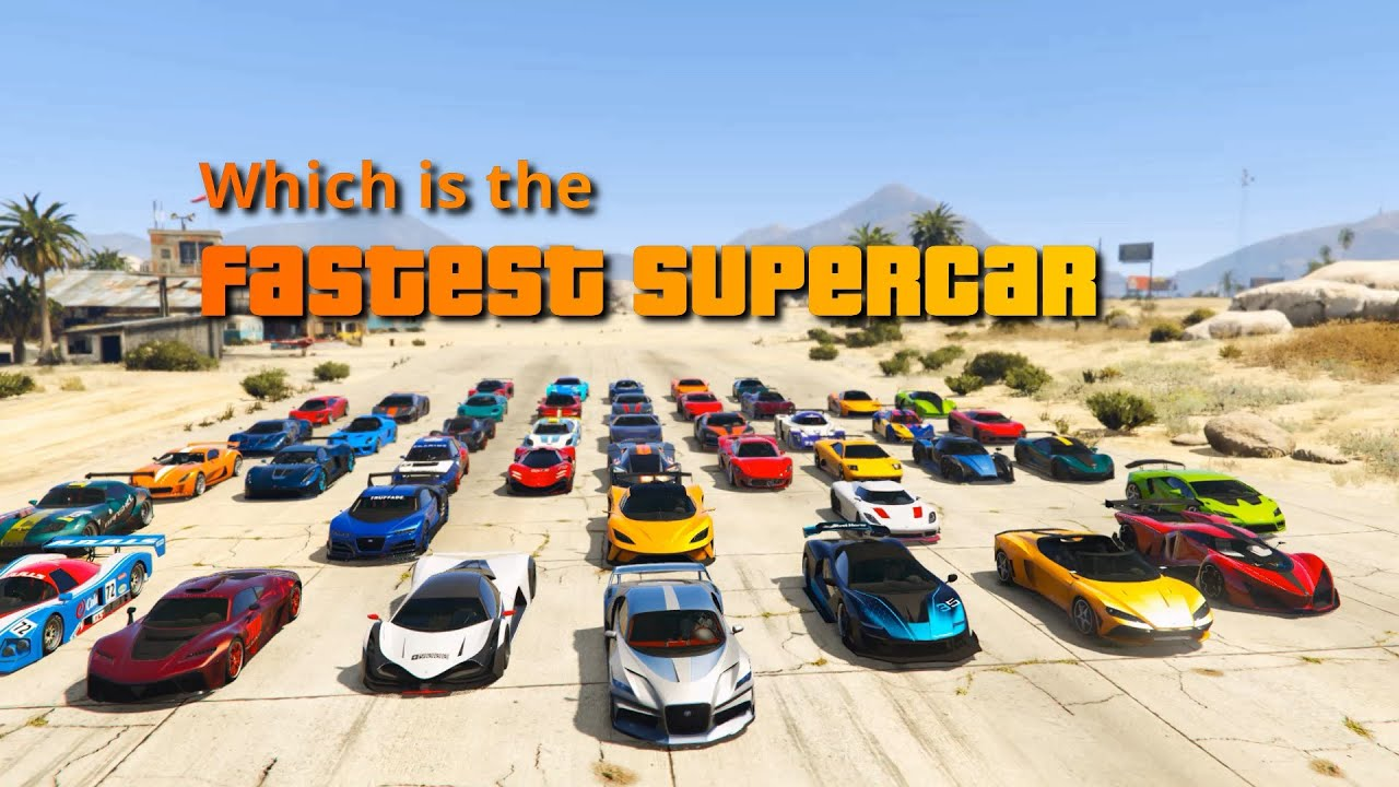 GTA V Which is the fastest supercar | Top Speed Test