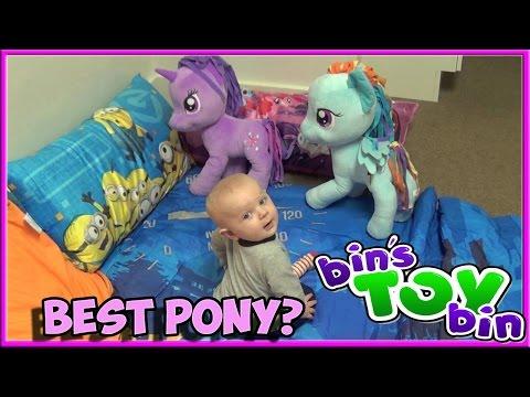 Rainbow Dash Vs. Twilight Sparkle - Baby Picks Best Pony! By Bin's Toy Bin