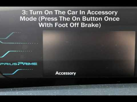 Turning Off The Backup Beep In A 2017 Prius Prime Or