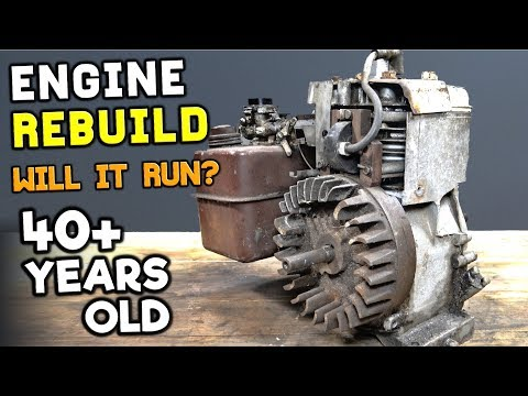 RUSTY ENGINE REBUILD RESTORATION (Will It Ever Run Again)