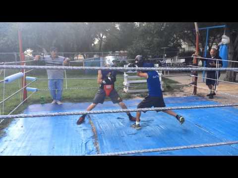 Elsa boxer Jesus Gallegos sparring before Junior Olympics