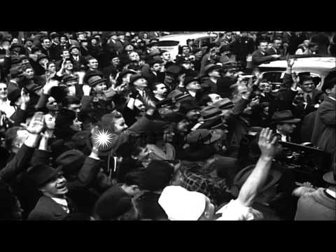 Americans select US President Franklin D. Roosevelt to serve for a third term in ...HD Stock Footage
