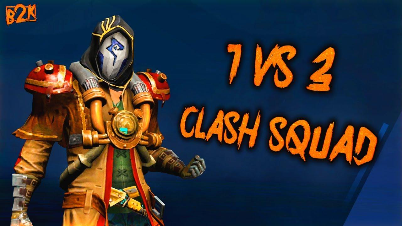 [B2K] SOLO VS TRIO CLASH SQUAD 7 - 0 | HIGHT SKILL LEVEL