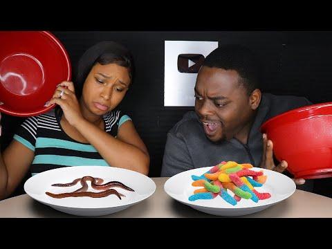 ASMR GUMMY FOOD VS REAL FOOD CHALLENGE   ASMR EATING NO TALKING MUKBANG   BEAUTY AND THE BEAST ASMR