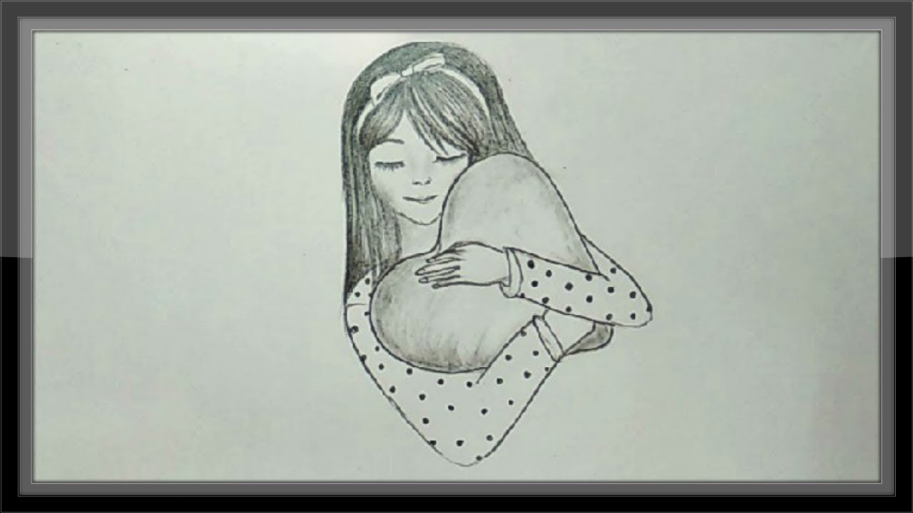 Pencil drawing valentines day cute drawing tutorial