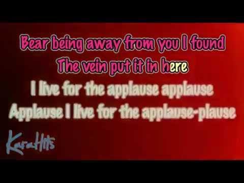 Lady Gaga Applause Karaoke Male Key Pitch Low