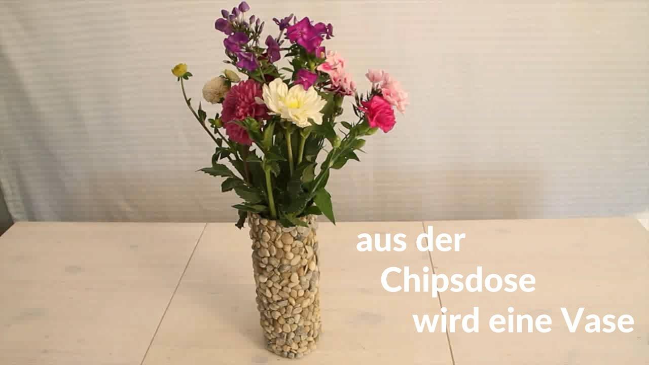 Diy Bastelidee Aus Chipsdose Wird Blumenvase Youtube