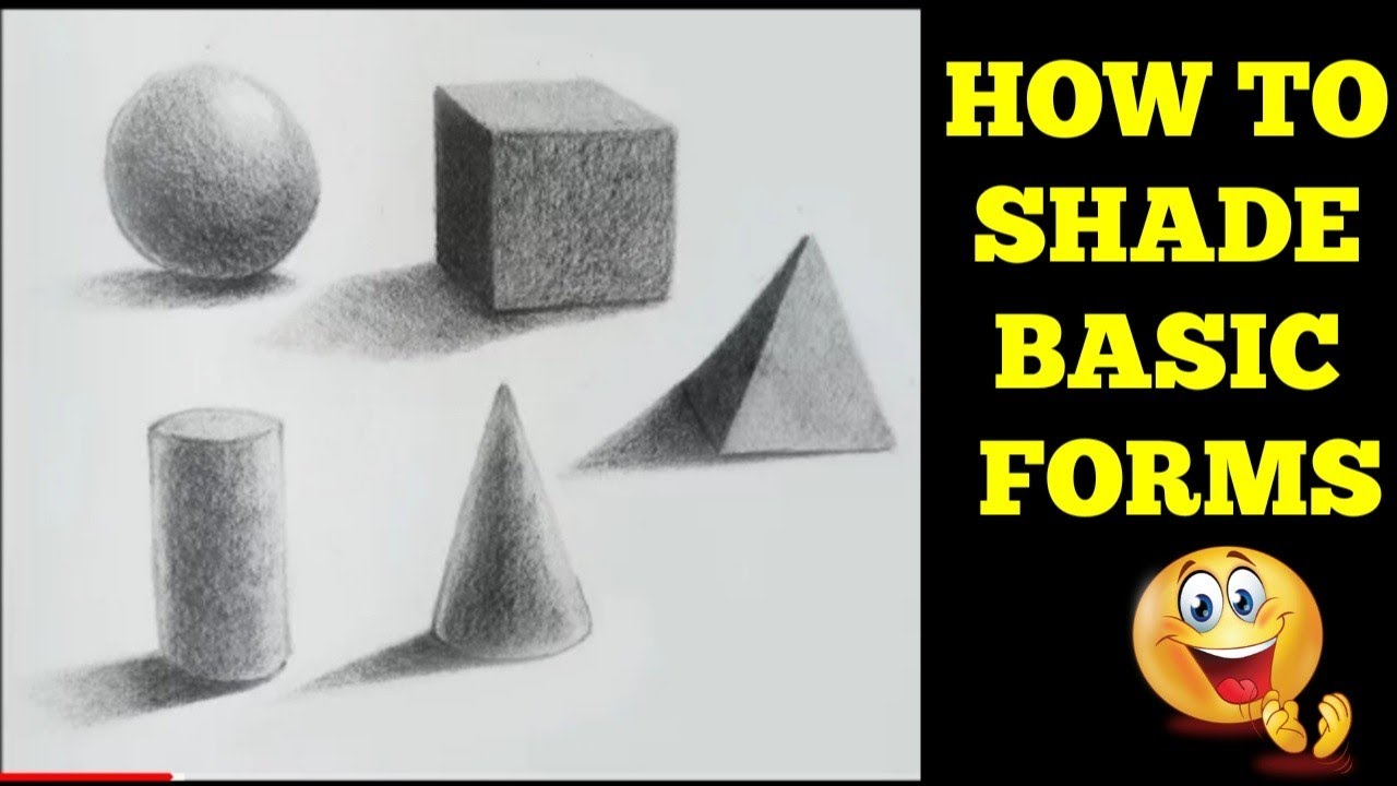 How to shade basic forms pencil tutorial pencil shading shapes