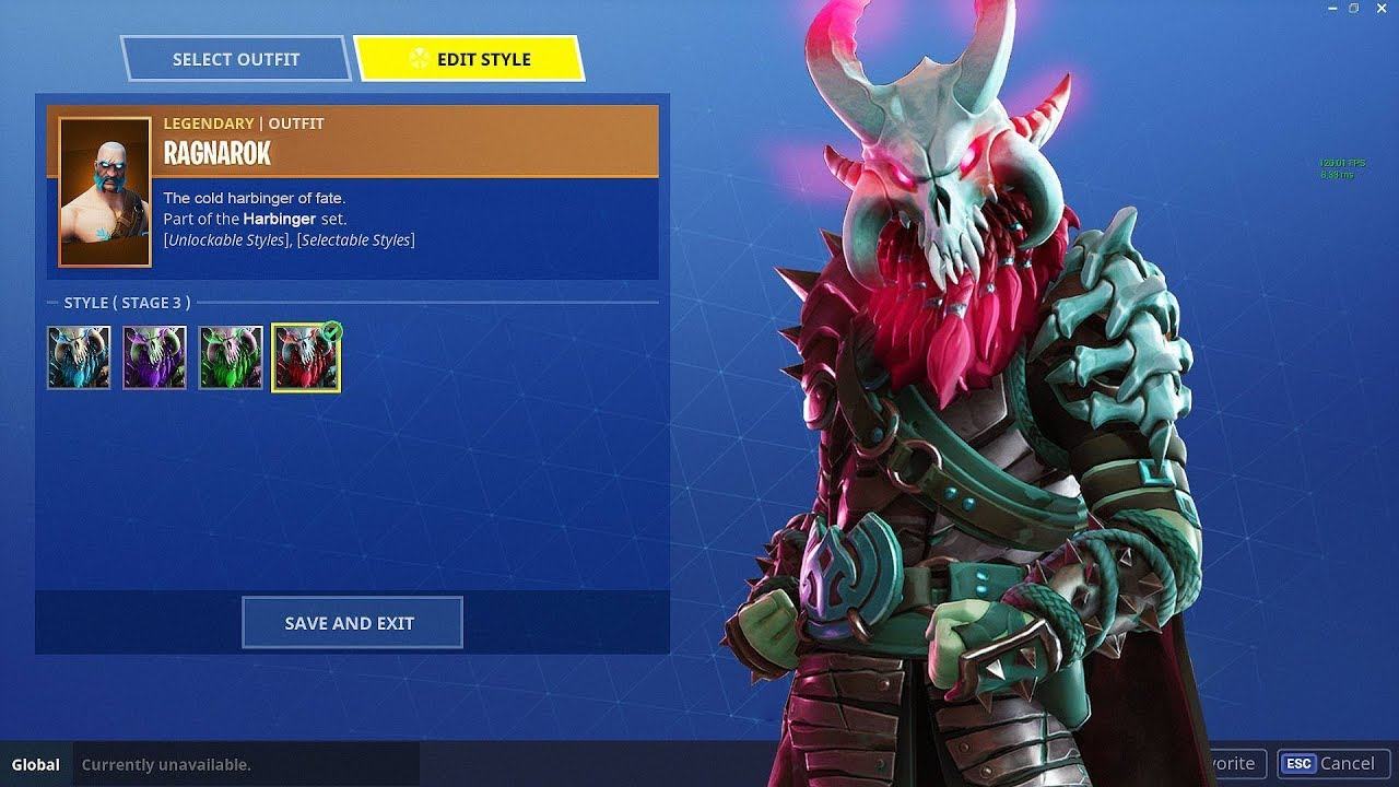 New Ragnarok Color Changes Ragnarok Fully Upgraded Fortnite