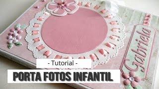 PORTA FOTOS INFANTIL TRIPTICO (COLABORACION CON MAS SCRAP) - TUTORIAL | LLUNA NOVA SCRAP