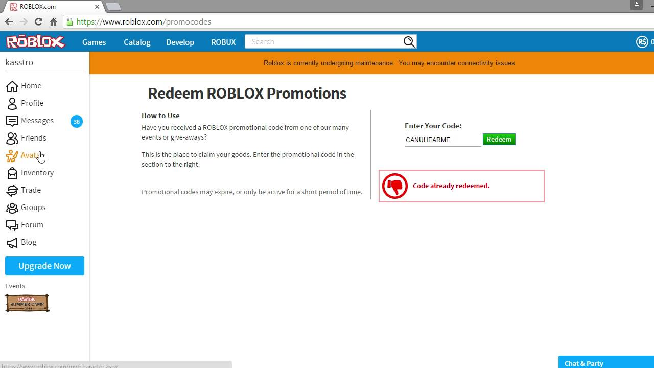 How to redeem codes on roblox - YouTube