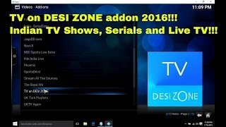 TV on DESI ZONE Addon - How to install in Kodi to watch free Indian TV Shows and Serials