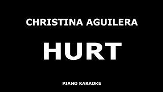 Christina aguilera - hurt piano karaoke [4k]