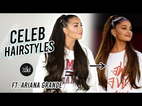 Recreating 4 Celebrity Hairstyles! Ariana, Kim K, Kylie, Beyonce | ZALA Hair Extensions