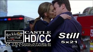 "Castle 5x21 ""Still"" End Scene Castle & Becket Are Out In The Open Retroclips of Caskett Kiss HD/CC"
