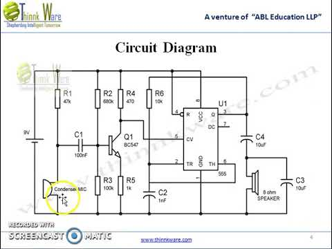 Audio Amplifier Using 555 Timer IC - YouTube