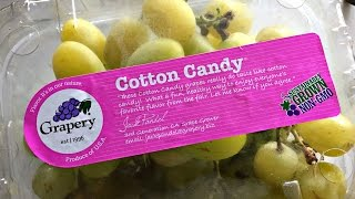 Tasting Cotton Candy Grapes - Fruity Fruits