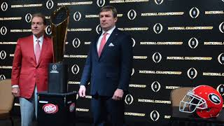 2018 CFP National Championship Game Head Coaches News Conference