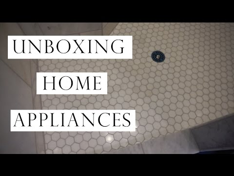 VLOG | UNBOXING OUR APPLIANCES FOR NEW HOUSE!