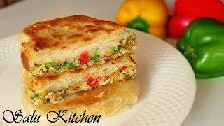 Murtabak Recipe    ഈദിന് വിട്ടുപോയ വിഭവം      Tasty Snack    Ep#584    Salu Kitchen Special
